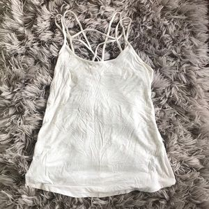 American Eagle Soft and Sexy White Tank Size M